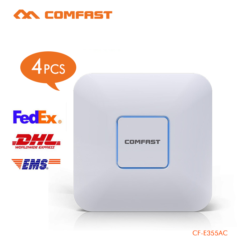 4pcs Comfast Ceiling ap router 1200Mbps Wireless Access Point Dual Band 2.4G&5G AP network Wifi Router 802.11 AC support openWRT 2pcs 1750m gigabit ac wifi router 2 4ghz 5g dual band wifi repeater access point ap router cf e380ac wireless ceiling ap openwrt