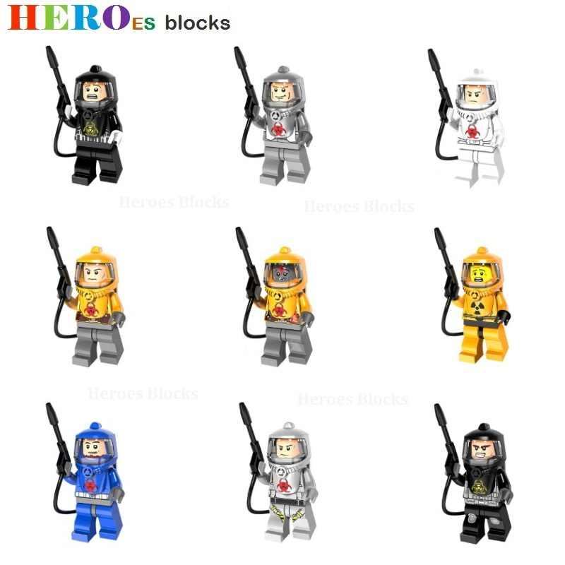 Супер Герои Звездные войны противохимические защитные команды пожарные строительные блоки фигурка кирпичная игрушка совместимый подарок Legoed