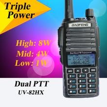 Baofeng uv-82 8 w UV-82HX talkie walkie sœur portable radio walk talk baofeng UV 82 UV82 gt-3 bf-a58 uv5r uv-6r px-2r