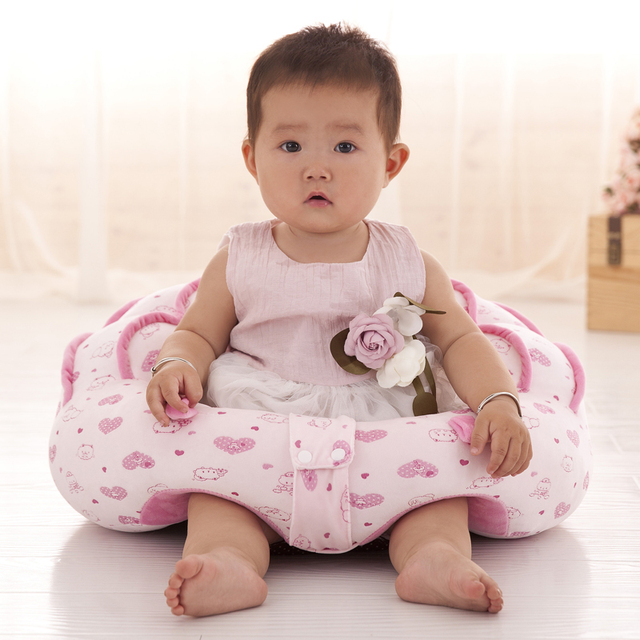 Bon Baby Support Seat Soft Baby Sofa Infant Learning To Sit Chair Keep Sitting  Posture Comfortable Cotton