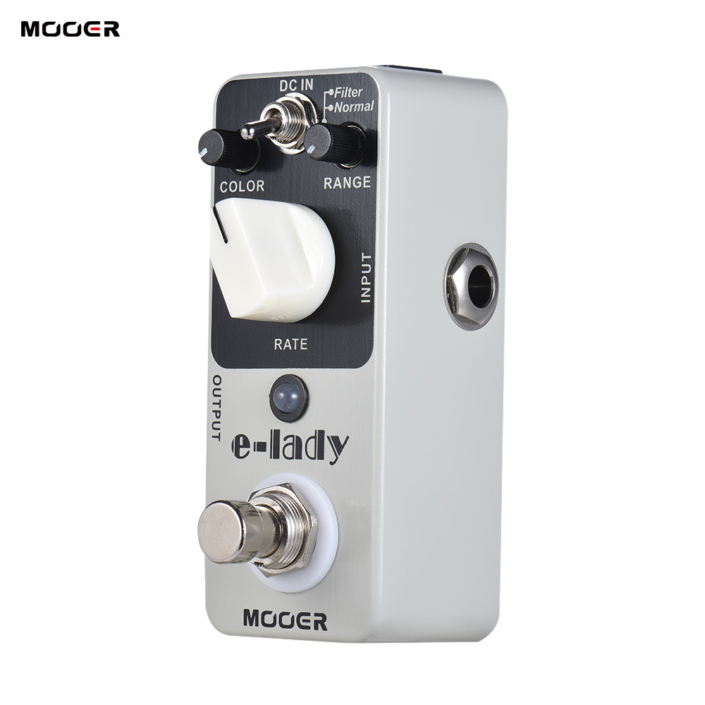 MOOER e lady Analog Flanger Guitar Effect Pedal 2 Modes ELectric Guitar Pedal True Bypass Full