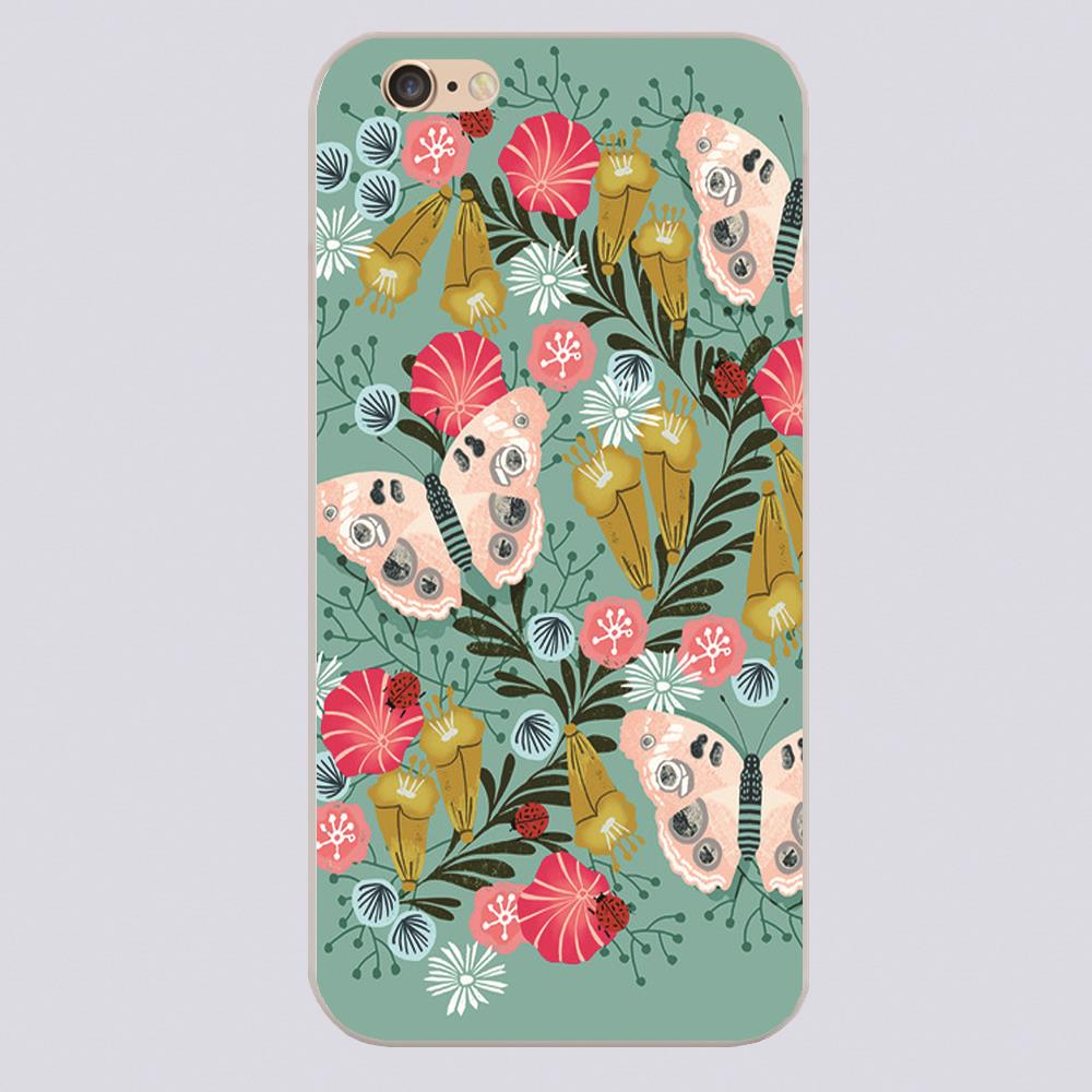 Buckeye Butterly Florals by Andrea Lauren Design case cover cell phone cases for iphone 4 4s 5 5c 5s 6 6s 6plus hard shell