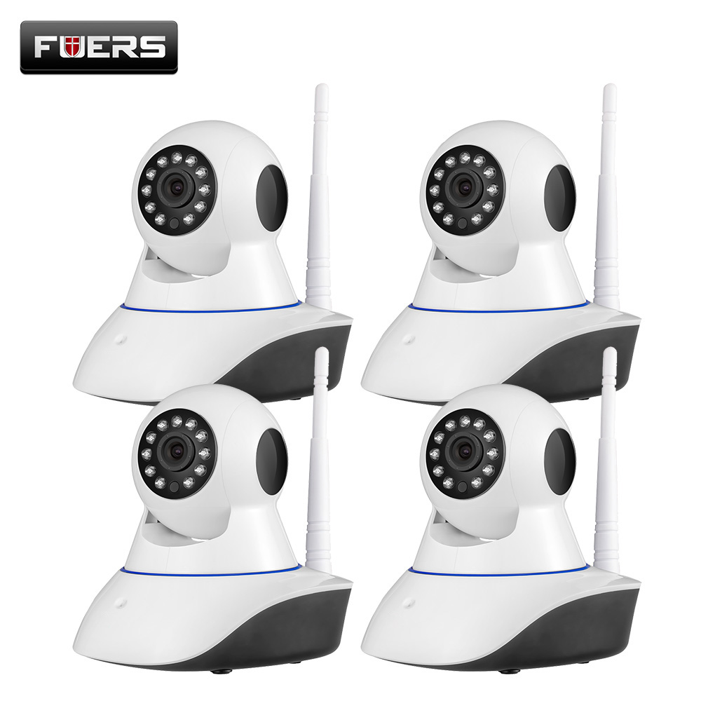 Fuers 4PCS 3.6mm 2MP 1080P Full HD Home Security Indoor Wireless WiFi Surveillance IP Camera Baby Monitor With Night Vision 2mp 1080p hd wireless intercom wifi ip camera indoor home surveillance system baby monitor