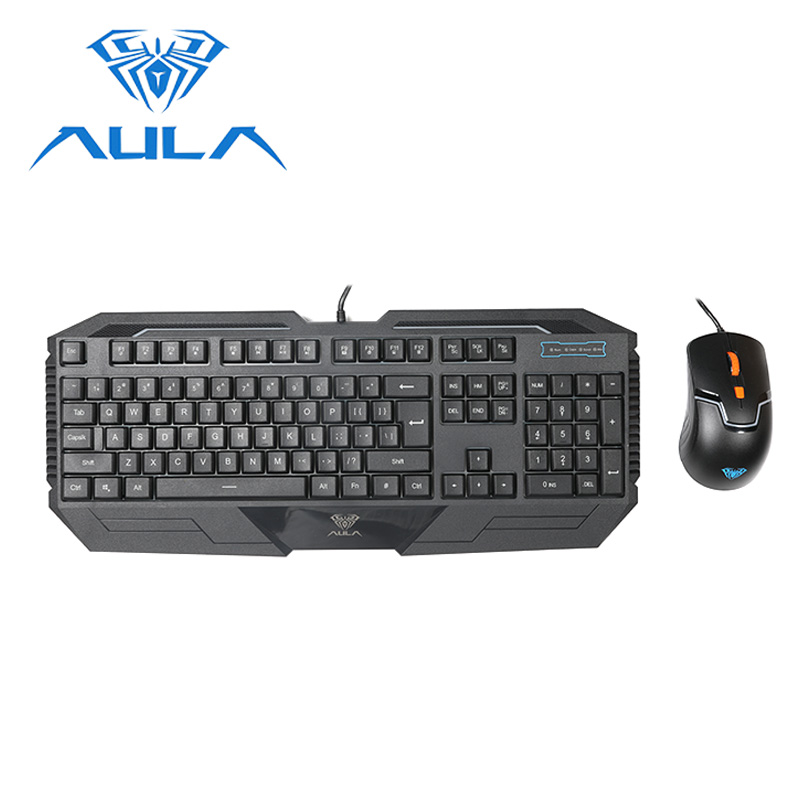 aula keyboard and mouse combo usb wired 104 keys dpi ajustable 1000 1600 for laptop pc computer. Black Bedroom Furniture Sets. Home Design Ideas