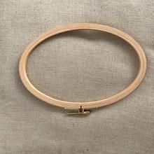 Cerceaux de broderie ovales 21x13cm, cadre de Tambour en bois Ellipse, outils de broderie artisanale, point de croix, nouveauté