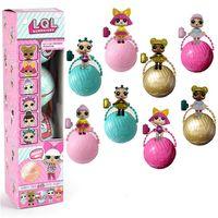 4Pcs 8Pcs Set LOL Surprise Doll Baby Toys Magic Funny Removable Egg Cup Dolls Kawaii Action