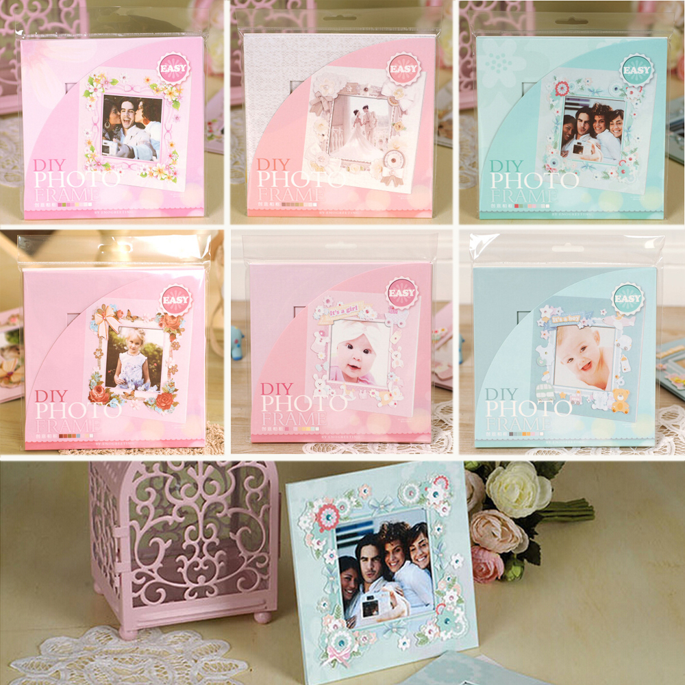 Easy Making Photo Frame Kit Gift Paper Sweet Wedding,Baby,Kids Desk Picture Frame Paper Photo Frame