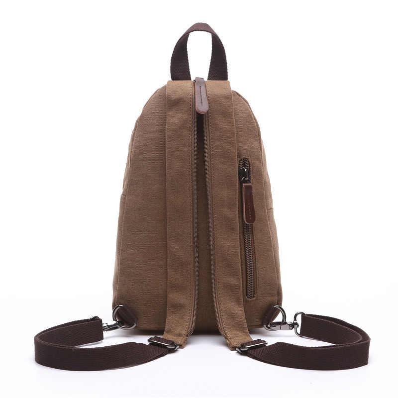 Nowy 2019 moda w stylu Vintage mężczyźni mały plecak płótno wodoodporne torby dla mężczyzn plecaki wojskowa torba na ramię Bolsas an678