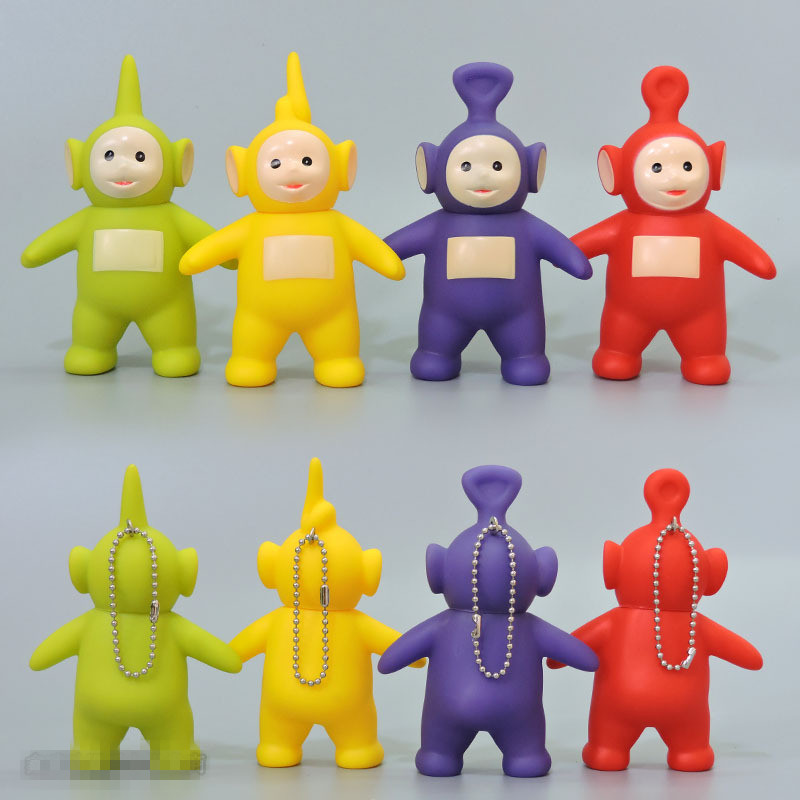 1pcs Cute Kawaii Teletubbies Action Figure Cartoon Silicone Vinyl Doll Figurine Ornaments Toys For Chidlren Poppetjes