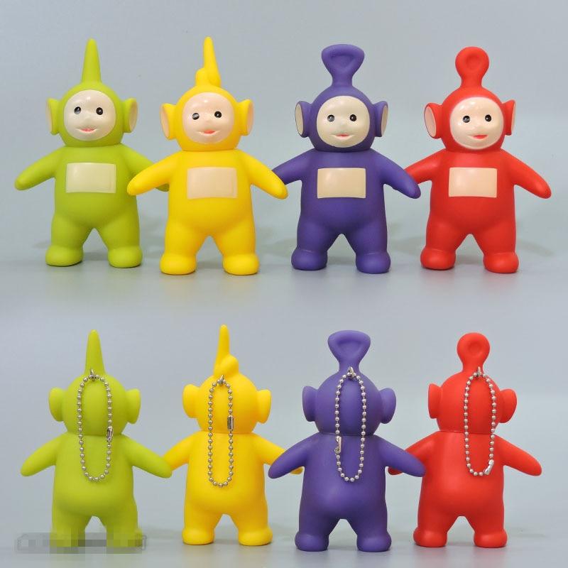 1pcs Cute Kawaii Teletubbies Action Figure Cartoon Silicone Vinyl Doll Figurine Ornaments Toys For Chidlren Poppetjes