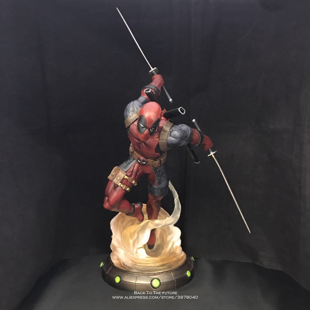 Marvel Comic Lady Deadpool Figure Decoraton Model PVC Figurine Toy Gift 24CM