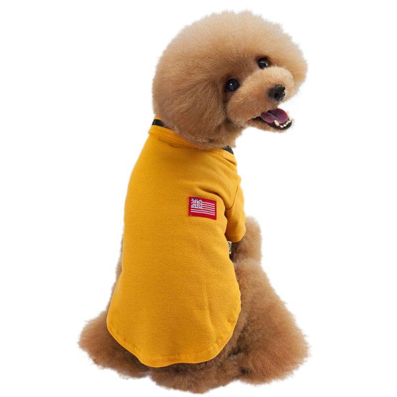 Summer Pet Puppy Dog Vest Shirt Fashion Dog Coat T-shirt Clothes Soft Cotton Dogs Apparel 3 Colors