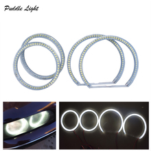 Car-styling 1 SET (2X 106mm+2X 131 mm )White Halo Cotton Light car smd LED Angel eyes for BMW E90 non projector auto