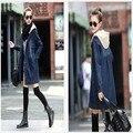 2015 Autumn Winter Maternity Coat loose big yards detachable hooded denim coat Windbreaker Clothes For Pregnant Women
