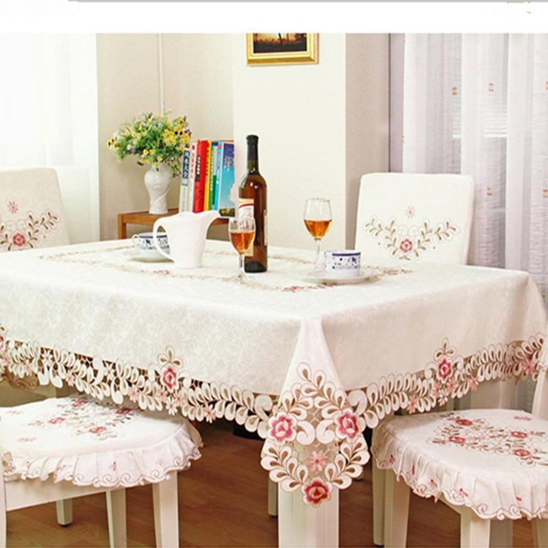 Europski Elegantni Poliester Vez za stolnjak Vezeni cvjetni kroj za - Tekstil za kućanstvo - Foto 2