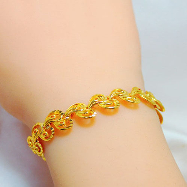 yellow jcpenney hollow milano bracelet p gold chain