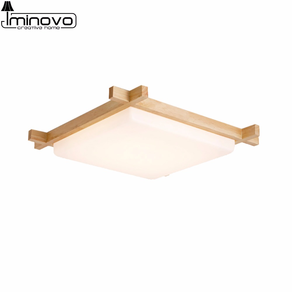Panel Remote Control LED Ceiling Light Lamp Wooden Square Lighting Hall Surface Mount Flush Modern Fixture Bedroom Living Room usb3 0 round type panel mounting usb connecter silver surface