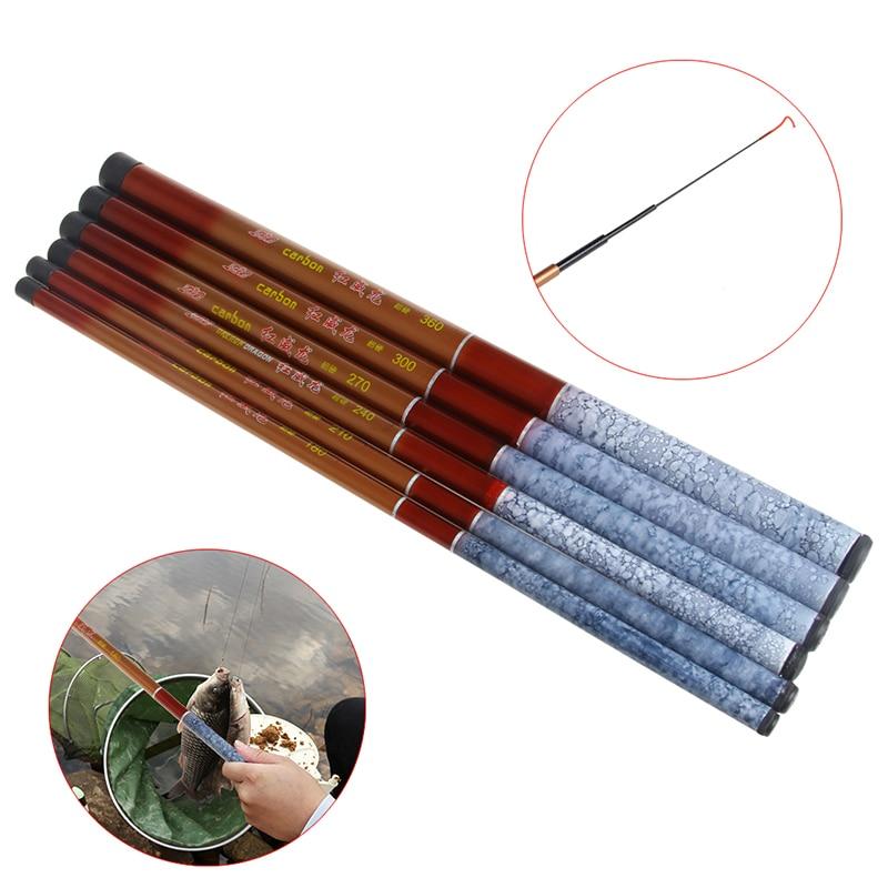 Fishing Rod 1.8 / 2.1 / 2.4 / 2.7 / 3.0 /3.6m Portable Fishing Rod Telescopic Hand Fishing Sea Pole Tackle Accessory Tool