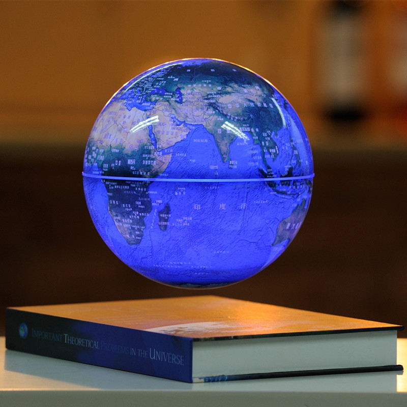Magnetic levitation globe 6 inches table decoration crafts gift rotation tellurion Office furnishing articles