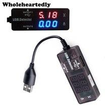 Портативный цифровой светодио дный светодиодный USB 2,0 двойной выход зарядки мощность Напряжение Ток мультиметр Amp Вольт Мощность метр тестер мониторы вольтметр