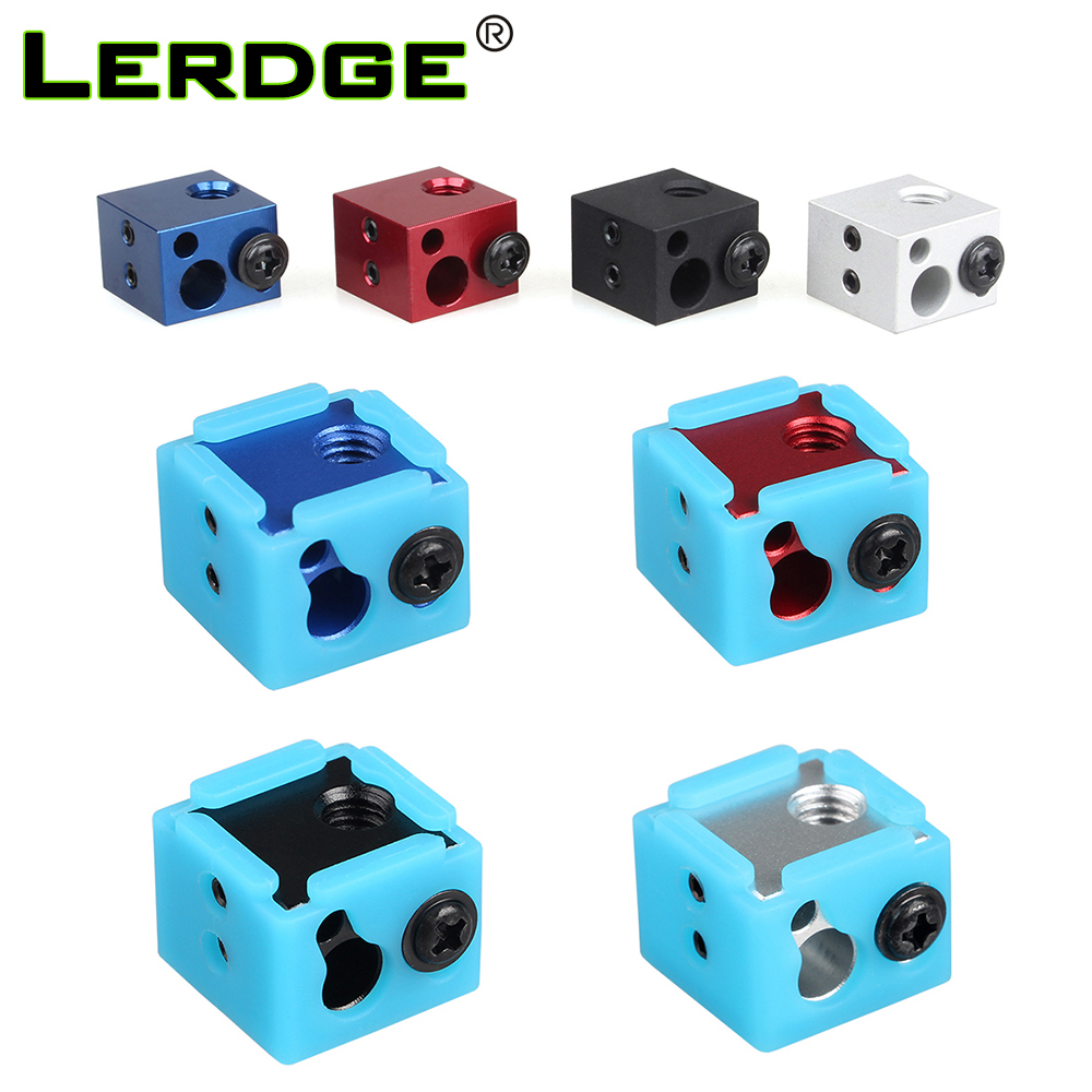 LERDGE Aluminium Heat Block For J-head Extruder HotEnd 3D Printers Silicone Socks Parts BP6 Heating Block Accessories LERDGE Aluminium Heat Block For J-head Extruder HotEnd 3D Printers Silicone Socks Parts BP6 Heating Block Accessories