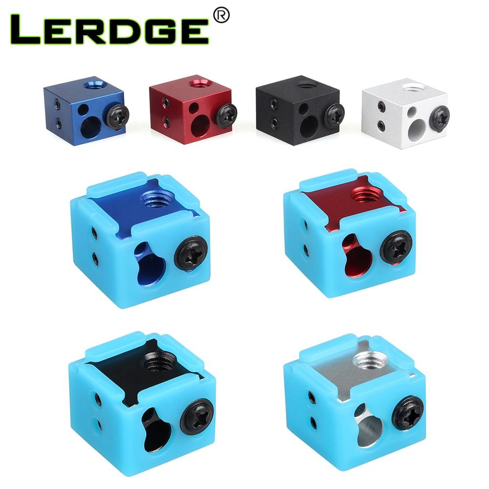 LERDGE Aluminium Heat Block For J-head Extruder HotEnd 3D Printers Silicone Socks Parts BP6 Heating Block Accessories