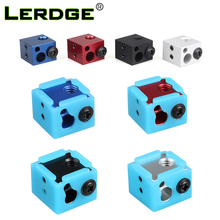 LERDGE Aluminium Heat Block For J-head Extruder HotEnd 3D Printers Silicone Socks Parts BP6 Heating Block Accessories