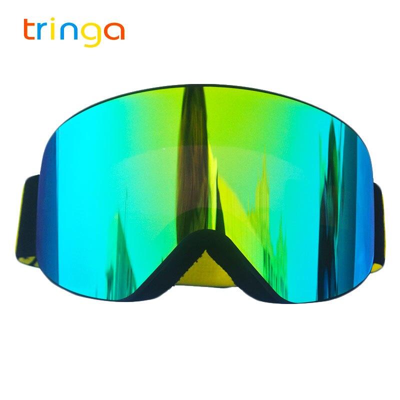 25a5e3b4b36 Ski Goggles 2018 New Brand UV400 Anti-fog Big Ski Mask Glasses Skiing Men  Women