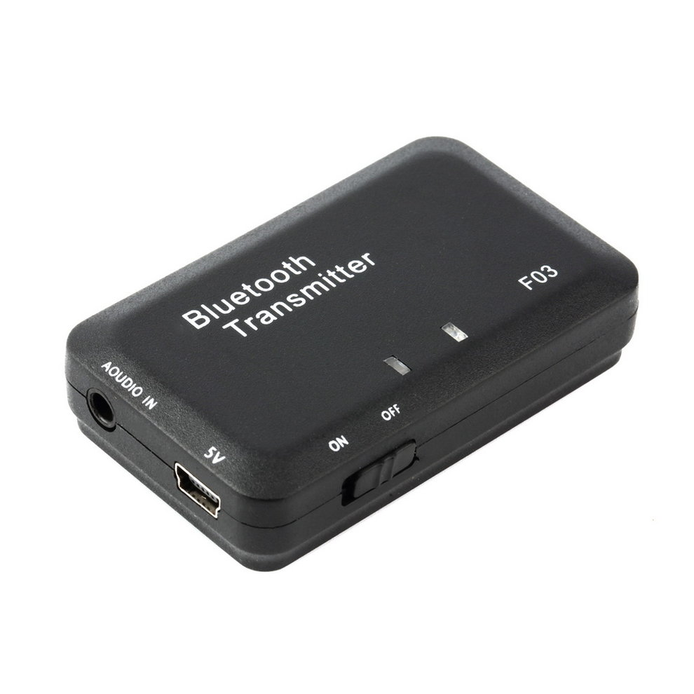 2pcs Mini Wireless Bluetooth Audio Music Transmitter Receiver for Headset Smart TV MP3 Dongle Adapter Black