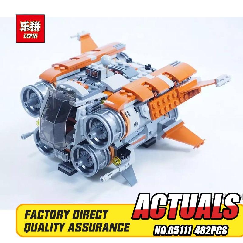 Lepin 05111 482Pcs Star War Series Jakku Quadjumper Building Block Compatible 75178 Brick Toy 6es5 482 8ma13