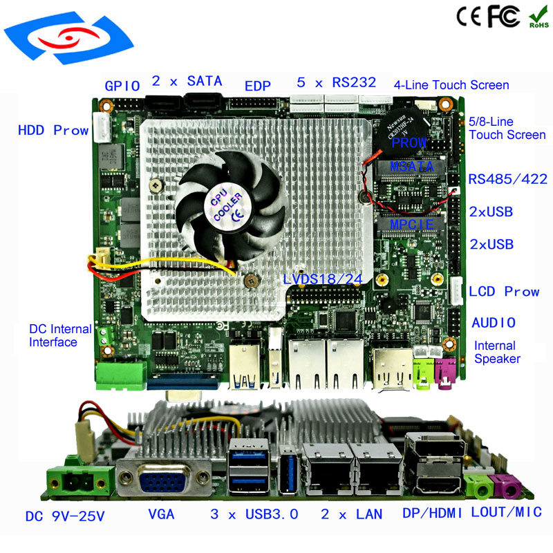 New Customize <font><b>Intel</b></font> <font><b>i5</b></font>-<font><b>2430M</b></font> Motherboard Dual <font><b>Core</b></font> 2.4GHz Mini PC Mainboard 12v Mini ITX Industrial Board Support 4G WIFI image