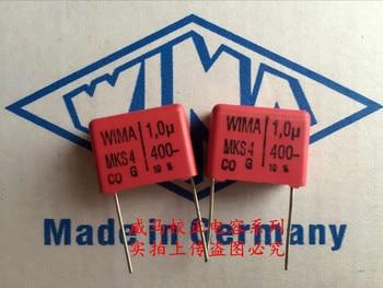 цена на 2019 hot sale 10pcs/20pcs Germany WIMA MKS4 400V 1UF 1.0UF 400V 105 400V P: 15mm Audio capacitor free shipping