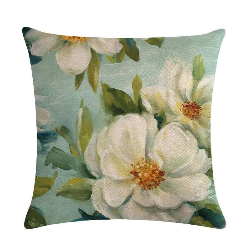 45 cm * 45 cm Die antiken gardenia rose pattern design leinen/baumwolle dekokissen covers couch kissenbezug hause dekorative kissen
