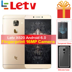 Original Letv Le2 X620 32G ROM Android6.0 phone Helio X20 Deca Core 2.3GHz 5.5'' 16MP Camera Fingerprint smartphone mobile phone