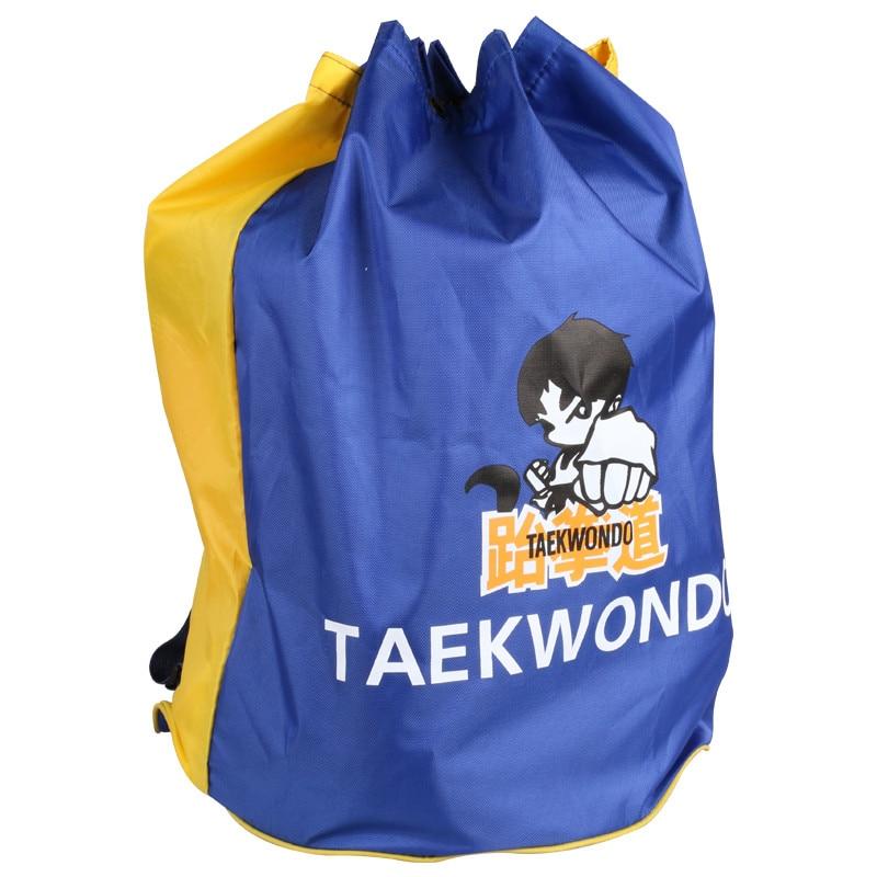 Männimerkki Laatu Musta Taekwondo -laukku Martial Arts MMA Protectors -laukut lapsille aikuisille WTF TKD -reppu