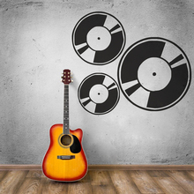 цена на Removable Wall Stickers Music Art Musician Record Wall Decal Disco Retro Style Wall Mural Music Studio Music Record Decor AY905