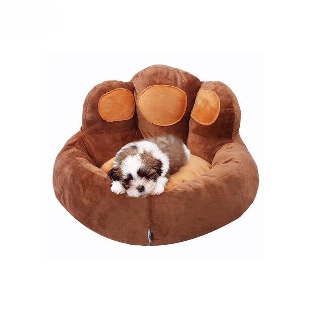 Haustier Hund Sitz Betten Luxus Solide Braun Haustiere Katze Matte Zwinger Abnehmbare Abdeckung Kissen