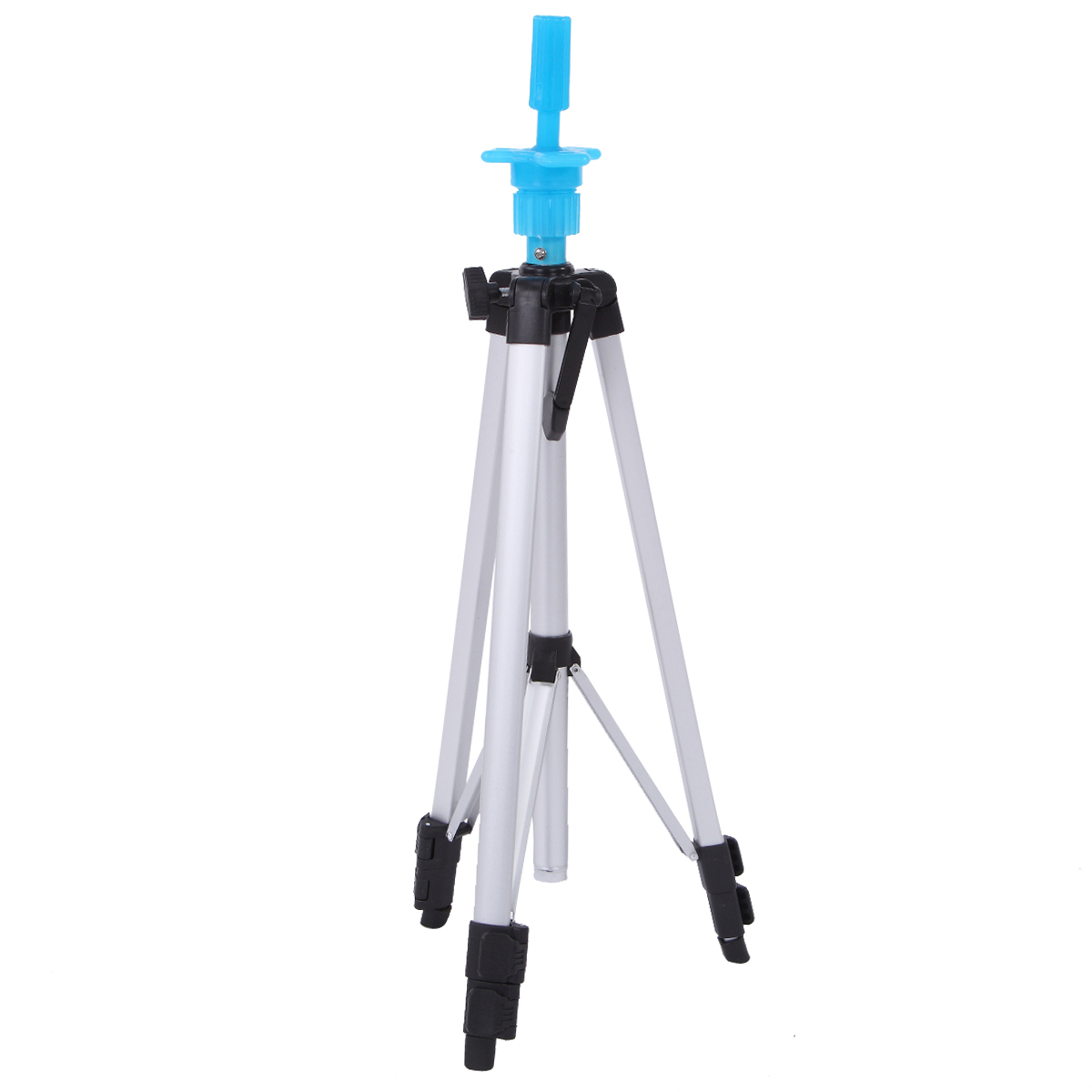 Three Layers Adjustable Tripod Stand Hair Training Mannequin Head Holder Clamp Aluminum Practice Showed Prop Salon Styling Tools