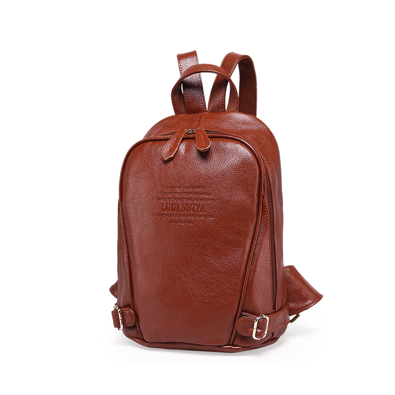 GENUINE LEATHER Fashion Women Backpack Girl Student School Bag MINI Small Double-Shoulder Bag Women Casual Back Packs Travel Bag
