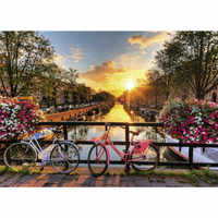 Painting By Numbers DIY Dropshipping 40x50 50x65cm Beautiful Amsterdam sunris Scenery Canvas Wedding Decoration Art picture Gift