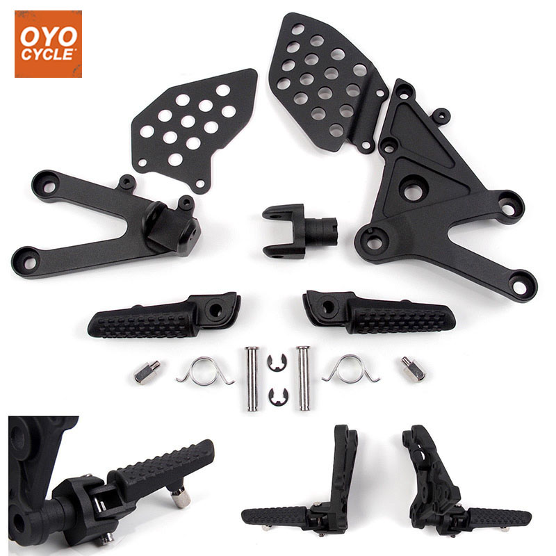 Front Driver Rider Foot Pegs For Honda CBR 600 RR 2003 2004 2005 2006 Bracket Footrests Footpegs CBR600RR Foot Rests