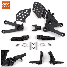 Front Driver Rider Foot Pegs For Honda CBR 600 RR 2003 2004 2005 2006 Bracket Footrests Footpegs CBR600RR Rests