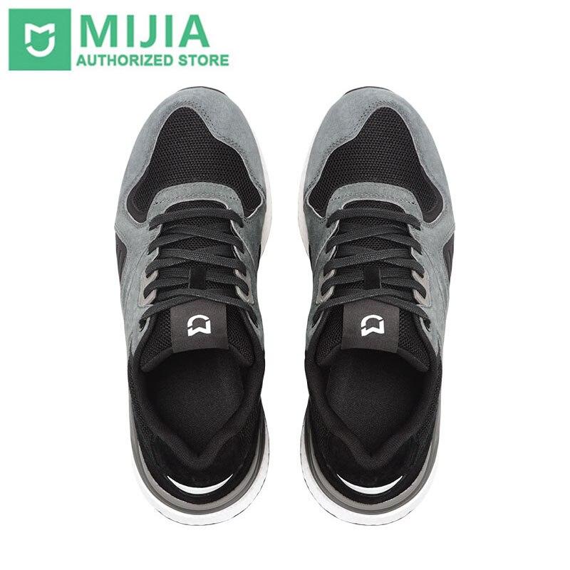 Original xiaomi mijia retro tênis sapatos de corrida esportes couro genuíno durável respirável para o esporte ao ar livre