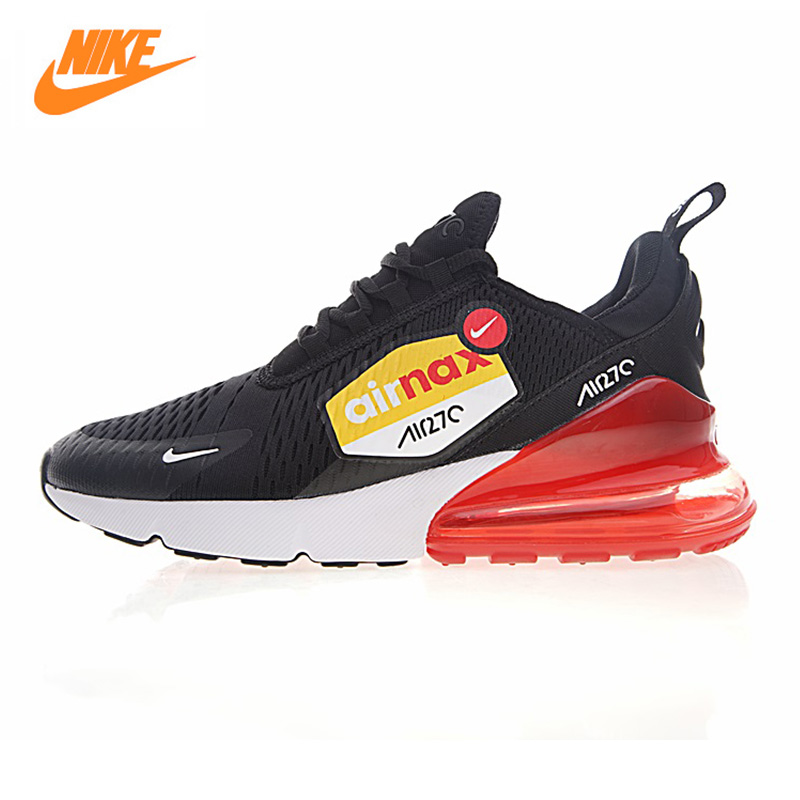 цена на Nike Air Max 270 Men's Running Shoes,Original Sports Outdoor Sneakers Shoes,black,Breathable Wear-resistant Non-slip AH8050 015