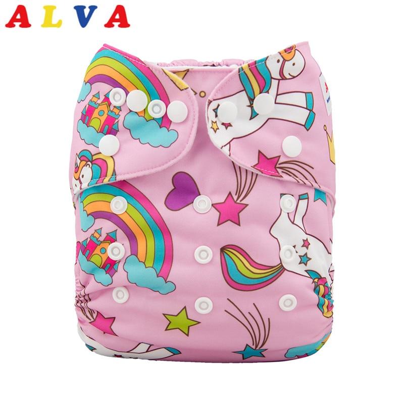 New 2019 Most Popular Washable ALVA Baby Diaper 50pcs per Lot with Microfiber Insert
