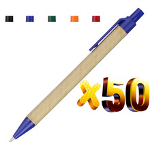 ロット 50 個エコ紙ボールペン黒インクボールペングリーンコンセプトカスタムペン昇進のロゴのギフトプレゼントパーソナライズペン景品