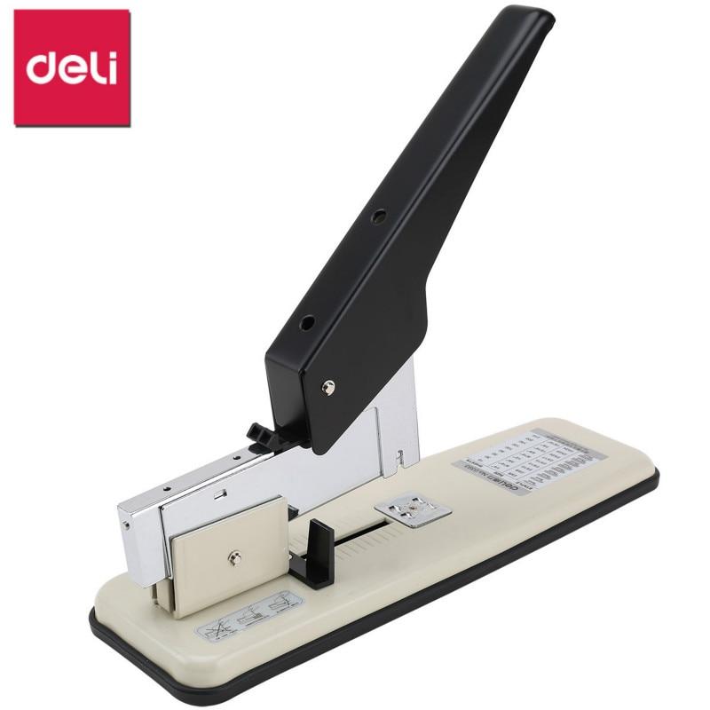 DELI Manual Stapler Office Binding Machine Labor saving Grapadora 210 Sheet Capacity Heavy Duty Stapler Office Binding Supplies