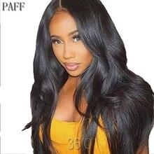 36C шелковистая прямая кружева спереди человеческих волос парики non-реми волос 100% перуанский парик с предварительно срывать Хеалаин Детские волос для женщин, черный