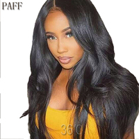 36C Silky Straight Lace Front Human Hair Wigs 100% Peruvian Virgin Hair Wig With Pre Pluck Hairline Baby Hair For Black Women