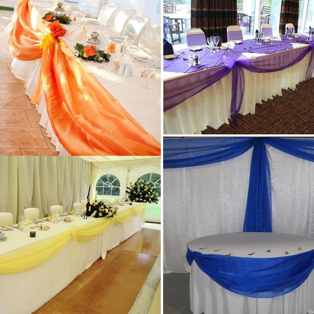 10m135m Peach Color Sheer Swag Diy Organza Swag Fabric For Wedding